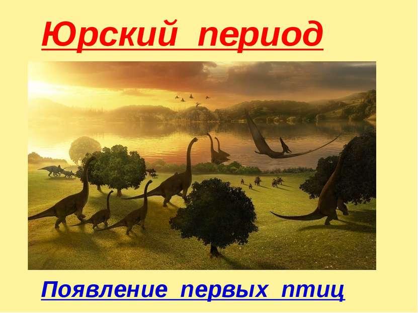 Юрский период Появление первых птиц
