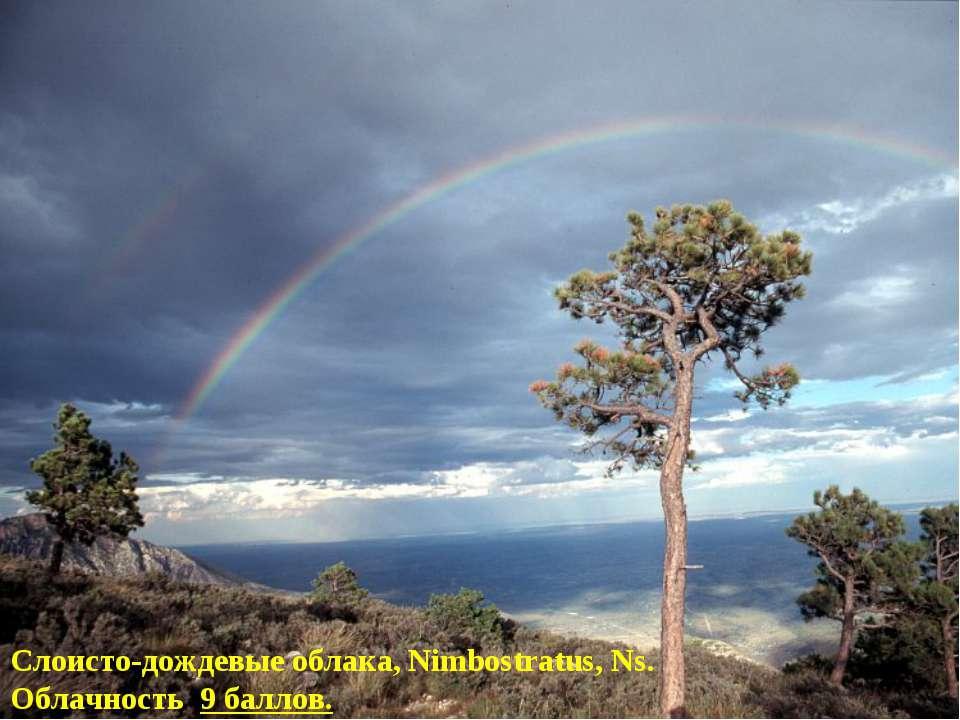 Слоисто-дождевые облака, Nimbostratus, Ns. Облачность 9 баллов.