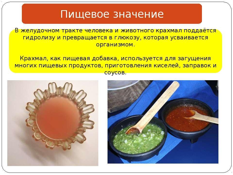 Пищевое значение В желудочном тракте человека и животного крахмал поддаётся г...