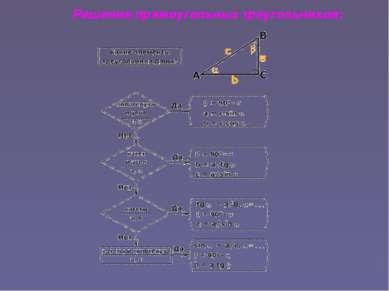 Решение прямоугольных треугольников: