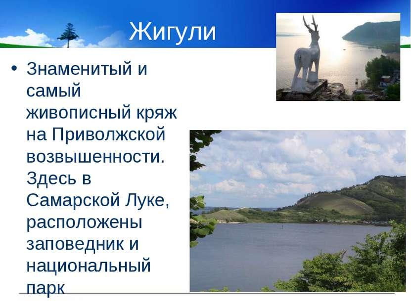 Жигули Знаменитый и самый живописный кряж на Приволжской возвышенности. Здесь...
