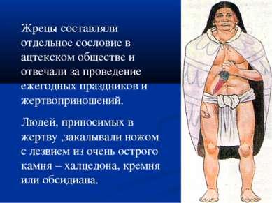 Жрецы составляли отдельное сословие в ацтекском обществе и отвечали за провед...