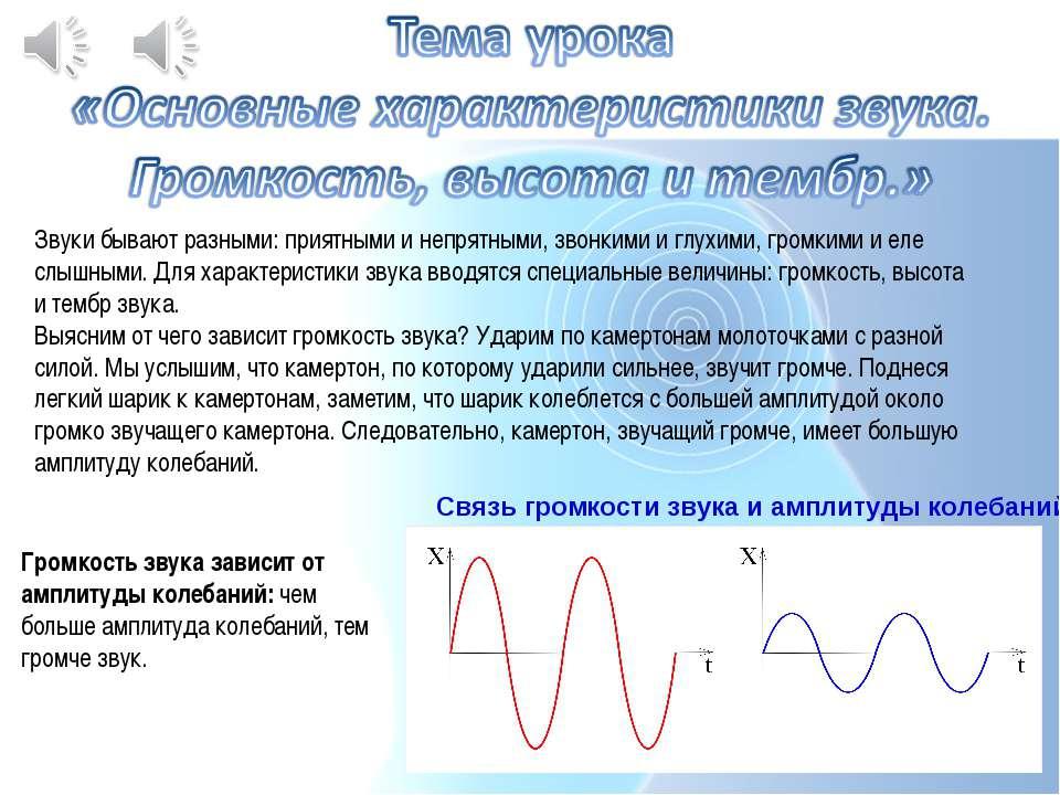 Звуки бывают разными: приятными и непрятными, звонкими и глухими, громкими и ...