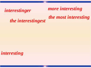 interesting the most interesting the interestingest more interesting interest...
