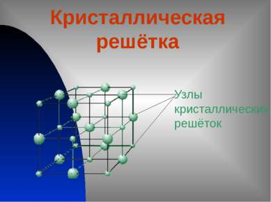 Кристаллическая решётка Узлы кристаллических решёток