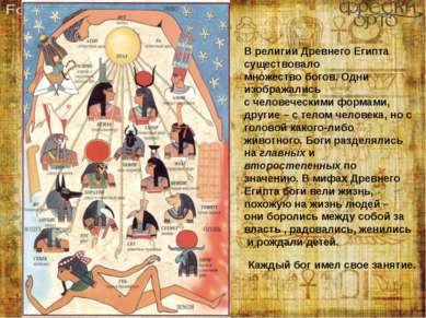 В религии Древнего Египта существовало множество богов. Одни изображались с ч...
