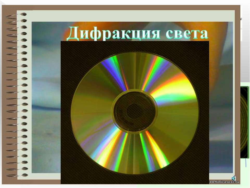 Дифракция света Дифракция - явление нарушения целостности фронта волны, вызва...