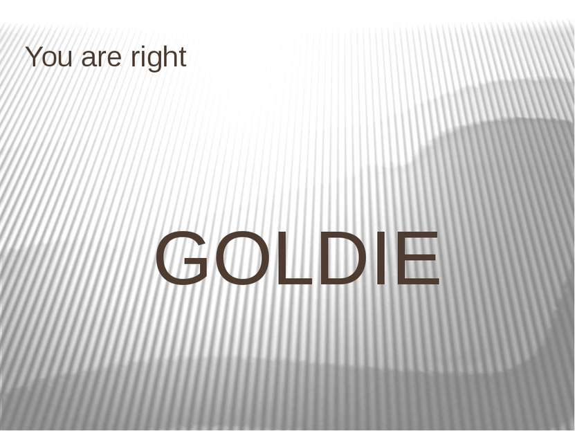 You are right GOLDIE