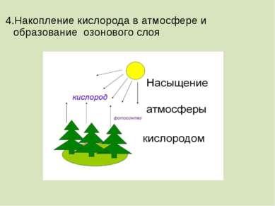 4.Накопление кислорода в атмосфере и образование озонового слоя