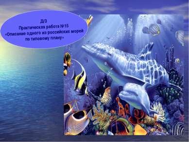 Д/З Практическая работа №15 «Описание одного из российских морей по типовому ...