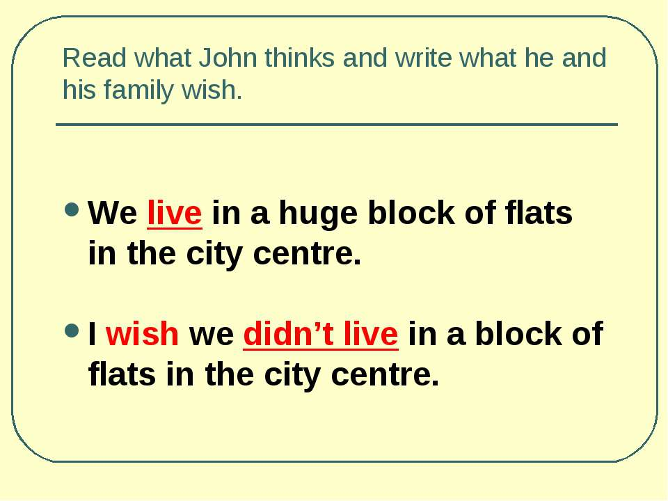 Read what John thinks and write what he and his family wish. We live in a hug...
