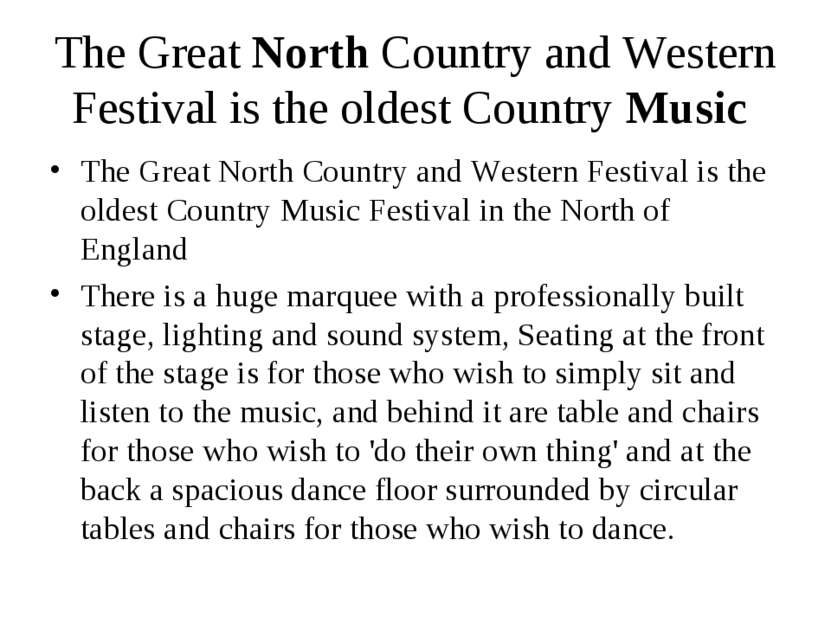 The Great North Country and Western Festival is the oldest Country Music The ...