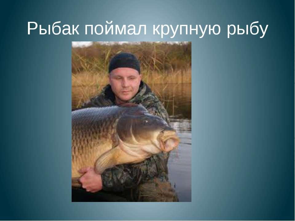 Рыбак поймал крупную рыбу