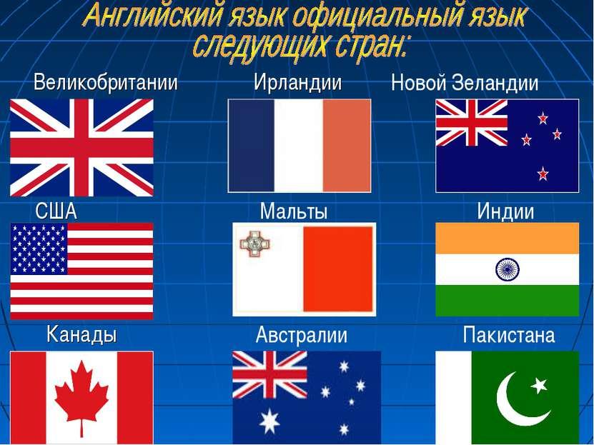 США Великобритании Ирландии Канады Мальты Австралии Новой Зеландии Индии Паки...