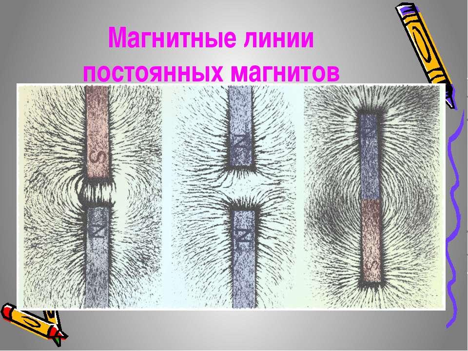 Магнитные линии постоянных магнитов