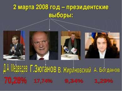 2 марта 2008 год – президентские выборы:
