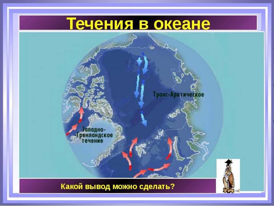 Течения в океане Какой вывод можно сделать?