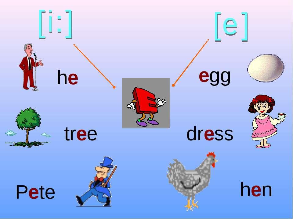 he tree Pete hen dress egg