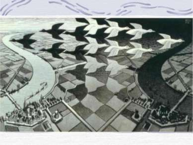 Эшер использовал базовые образцы мозаик, применяя к ним трансформации, которы...