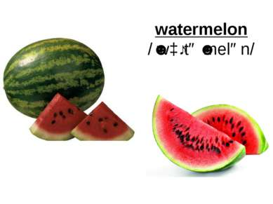 watermelon /ˈwɔːtəˈmelən/