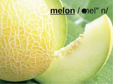 melon/ˈmelən/