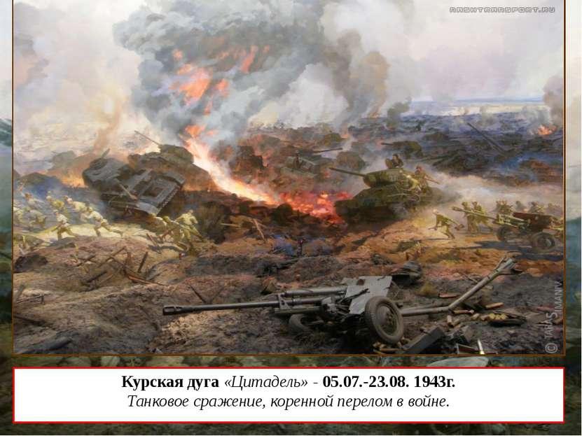 Курская дуга «Цитадель» - 05.07.-23.08. 1943г. Танковое сражение, коренной пе...