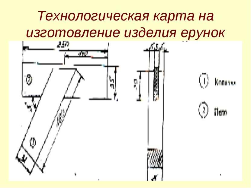 Технологическая карта на изготовление изделия ерунок
