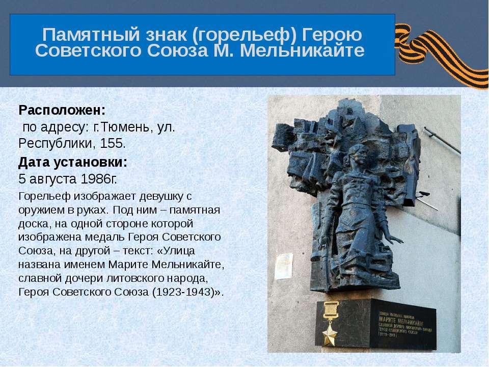 Расположен: по адресу: г.Тюмень, ул. Республики, 155. Дата установки: 5 авгус...