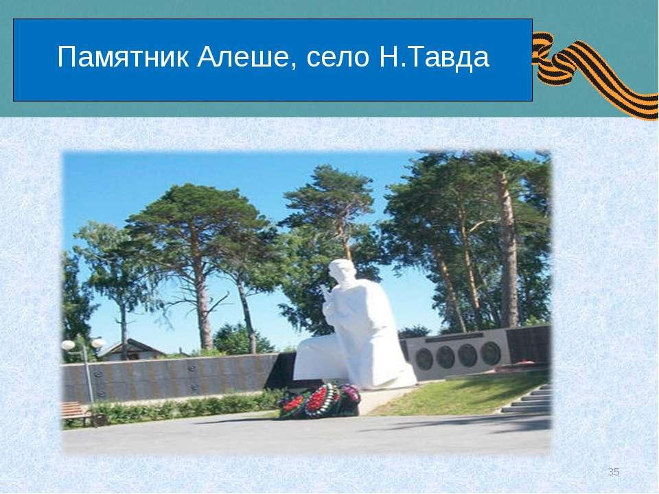 Памятник Алеше, село Н.Тавда