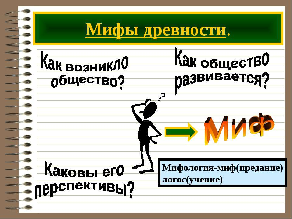 Мифы древности.