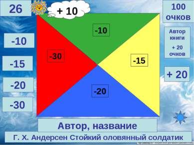 Г. Х. Андерсен Стойкий оловянный солдатик 100 очков 26 Автор, название -10 -1...