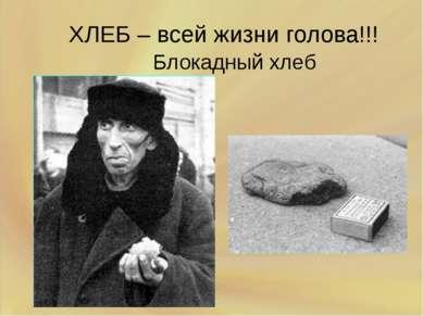 ХЛЕБ – всей жизни голова!!! Блокадный хлеб