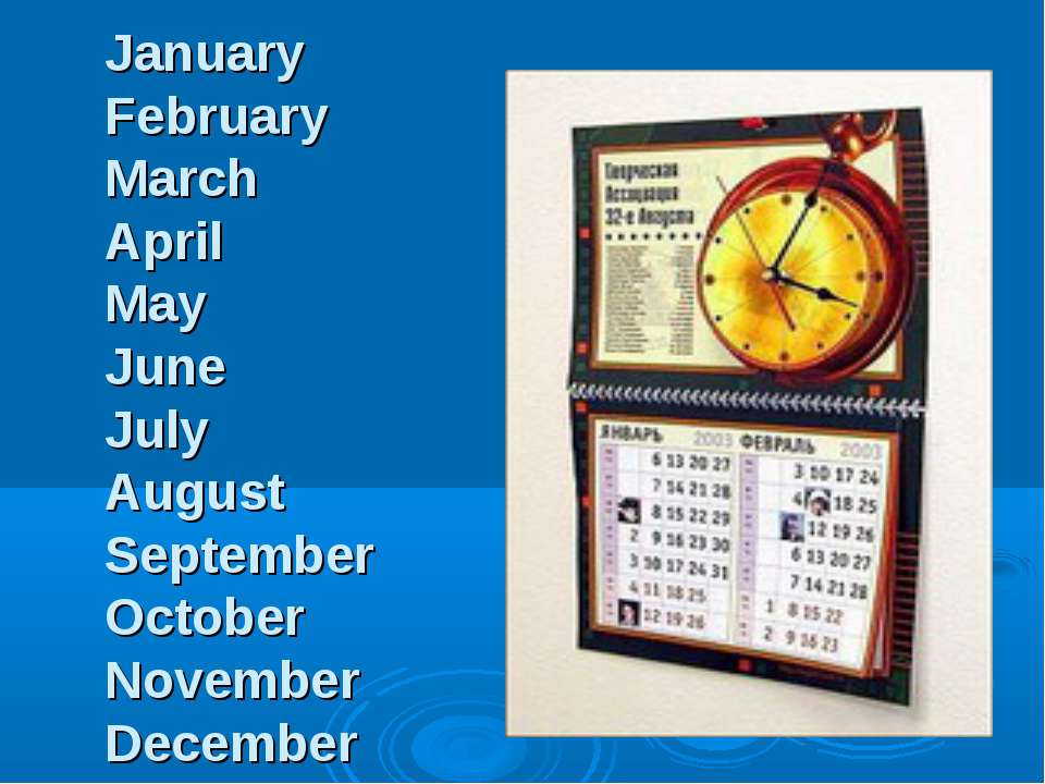 January February March April May June July August September October November ...