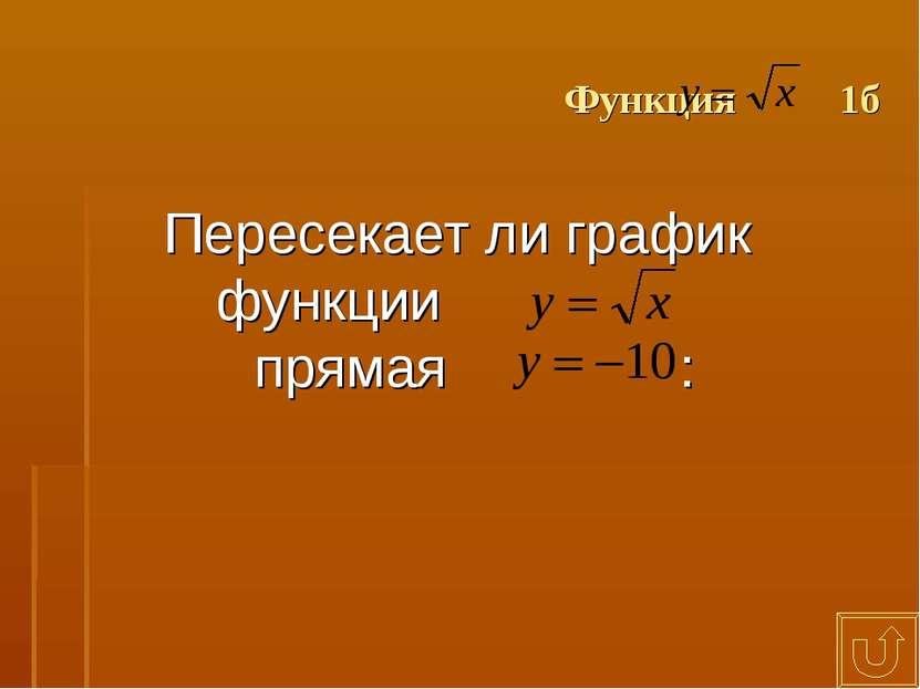 Функция 1б Пересекает ли график функции прямая :