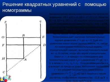 Решение квадратных уравнений с помощью номограммы