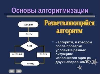 Основы алгоритмизации - алгоритм, в котором после проверки условия в разных с...