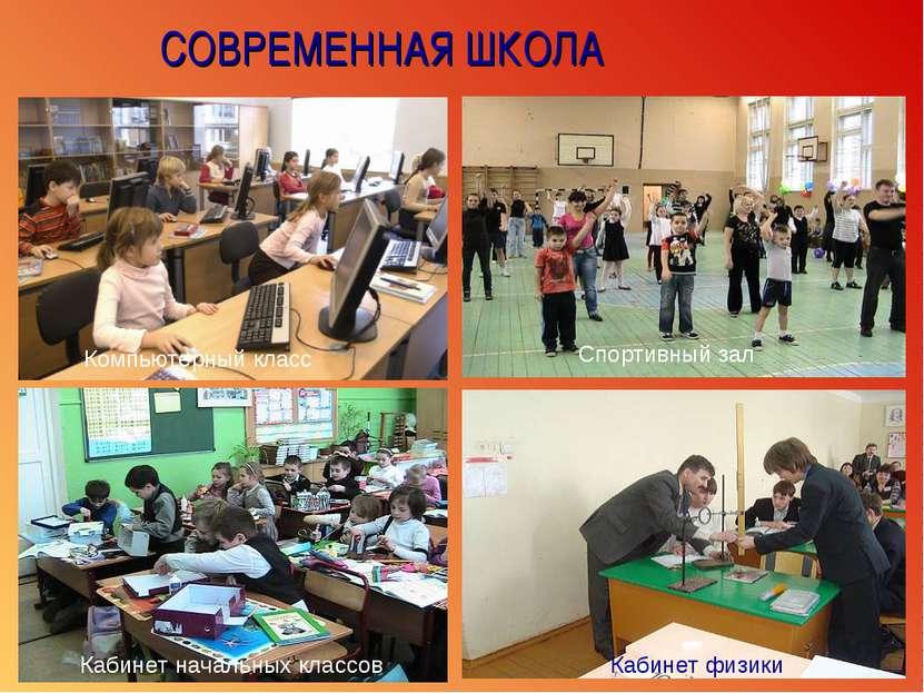 СОВРЕМЕННАЯ ШКОЛА Компьютерный класс Спортивный зал Кабинет начальных классов...