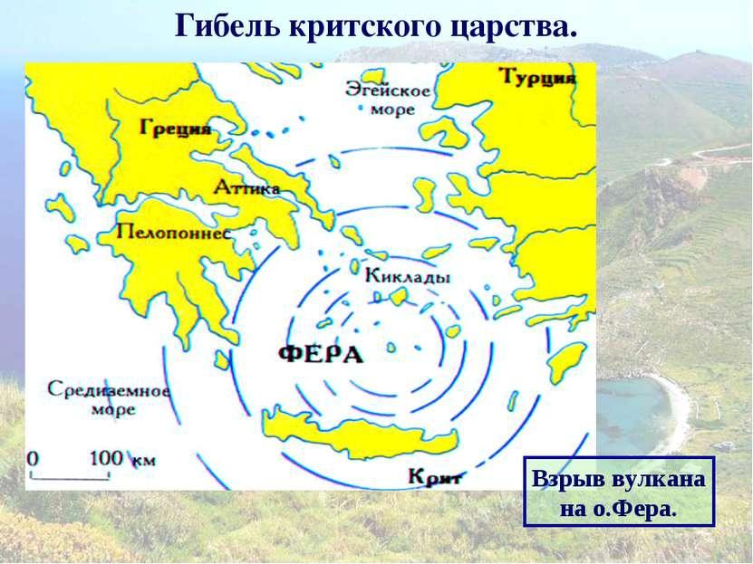Гибель критского царства. Взрыв вулкана на о.Фера.