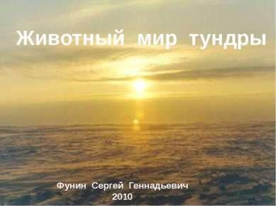 Животный мир тундры Фунин Сергей Геннадьевич 2010