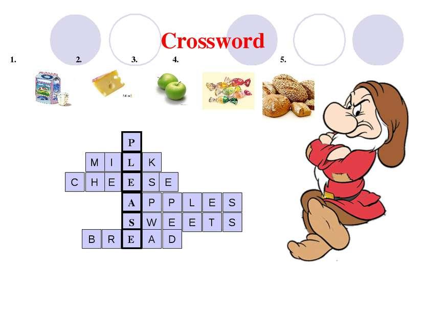 Crossword 1. 2. 3. 4. 5 5. A S E L E P I M K E H C S E P P L E S W E E T S R ...