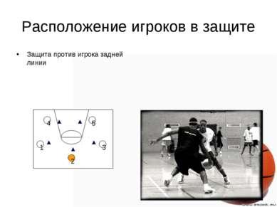 Расположение игроков в защите Защита против игрока задней линии