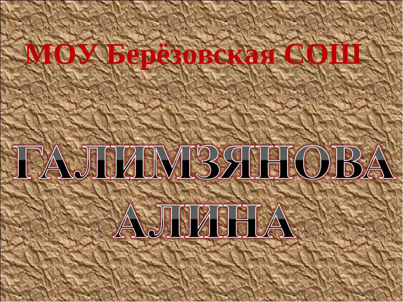 МОУ Берёзовская СОШ