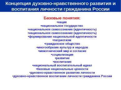 Базовые понятия: нация национальное государство национальное самосознание (ид...