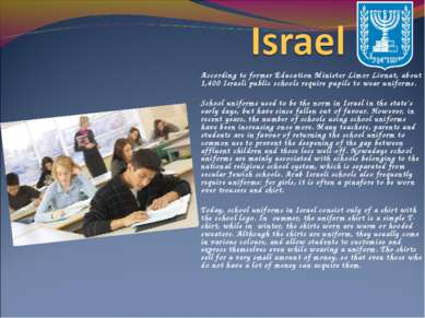 According to former Education Minister Limor Livnat, about 1,400 Israeli publ...