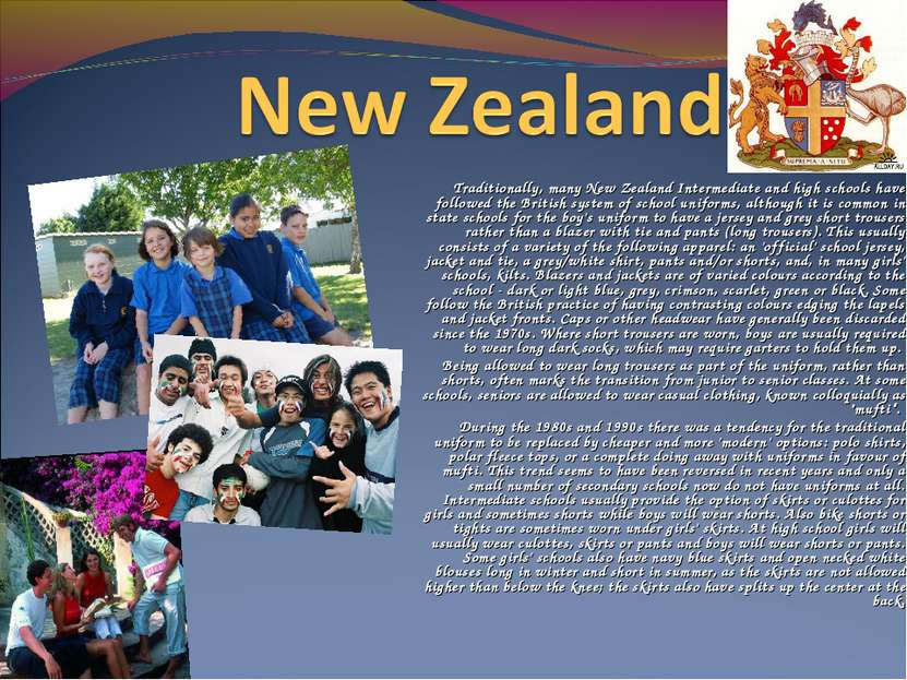 Traditionally, many New Zealand Intermediate and high schools have followed t...
