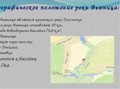 Географическое положение реки Вьюница: Река Вьюница является притоком реки Гн...