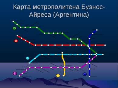 Карта метрополитена Буэнос-Айреса (Аргентина)