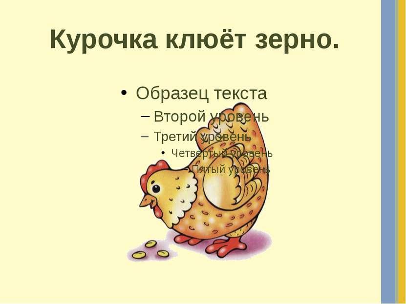 Курочка клюёт зерно.
