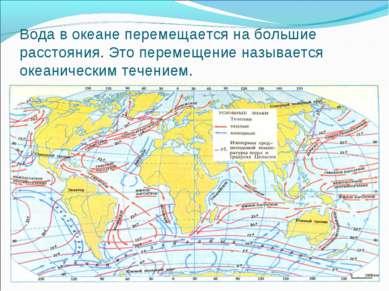 Вода в океане перемещается на большие расстояния. Это перемещение называется ...