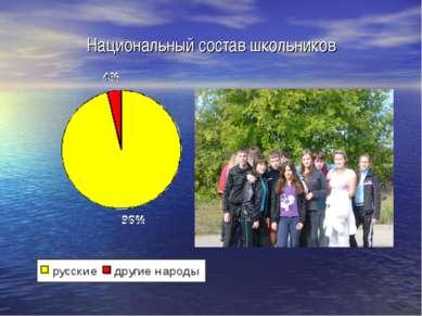 Национальный состав школьников